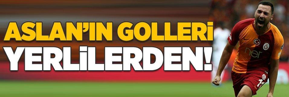 Galatasaray'ın yerlileri de golcü