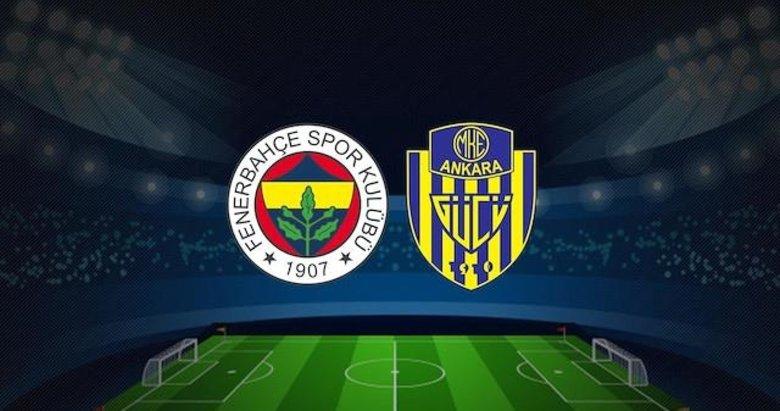 Fenerbahçe-Ankaragücü mücadelesinin ilk 11'leri belli oldu!