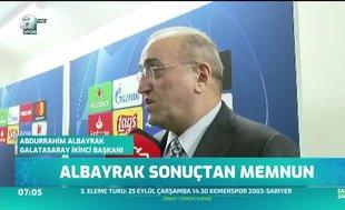 Abdurrahim Albayrak: Sahada iyi mücadele ettik
