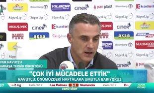 """Tayfur Havutçu: """"11'e 11 olsa kazanabilirdik"""" ?"""