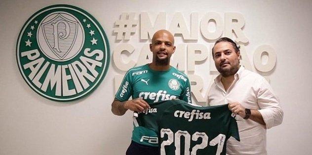 Felipe Melo 2 yıl daha Palmeiras'ta