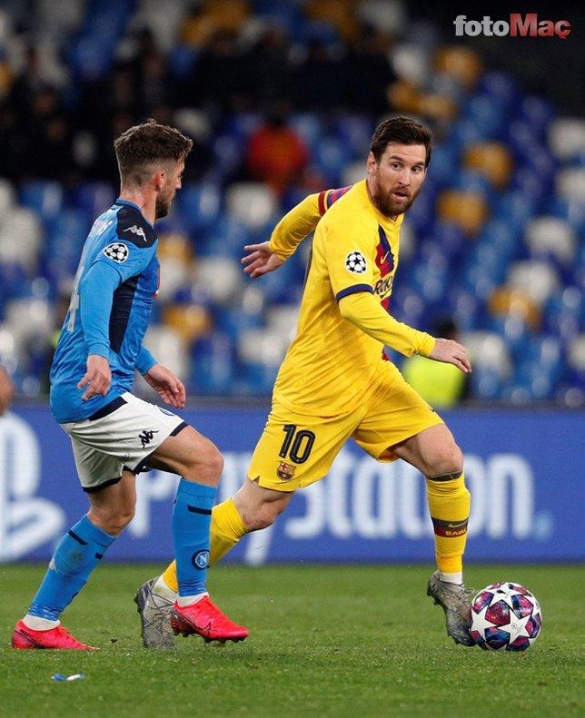 Napoli Barcelona maçında koronavirüs alarmı! İşte o görüntüler