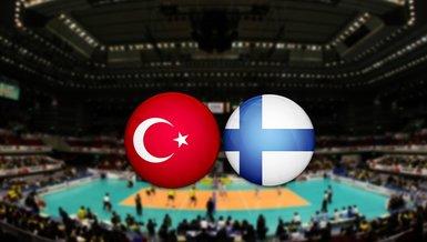 Türkiye Finlandiya maçı ne zaman, saat kaçta, hangi kanalda? Filenin Efeleri Finlandiya voleybol maçı canlı skor