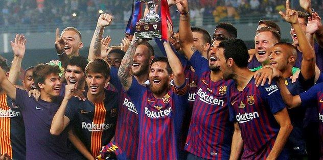 İspanya Süper Kupa'da kazanan Barcelona