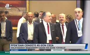 PFDK'dan Cengiz'e 45 gün ceza