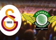 Galatasaray-Akhisarspor maçı öncesi 11'ler belli oldu
