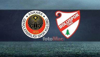 Gençlerbirliği - Boluspor maçı ne zaman, saat kaçta, hangi kanalda?