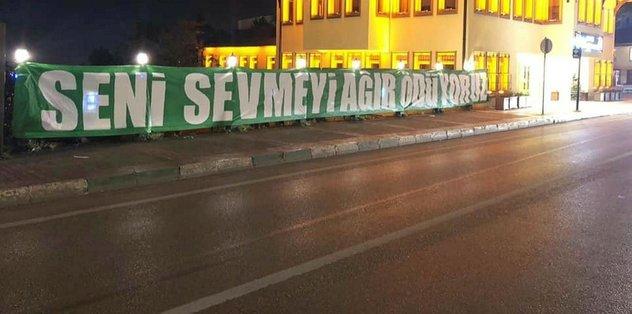 Bursasporlu taraftarlardan oyunculara mesaj