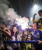 Ankara'da sarı-Lacivert kutlama