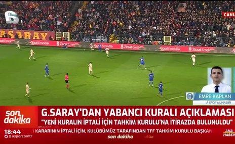 Galatasaray'dan yabancı kuralı açıklaması