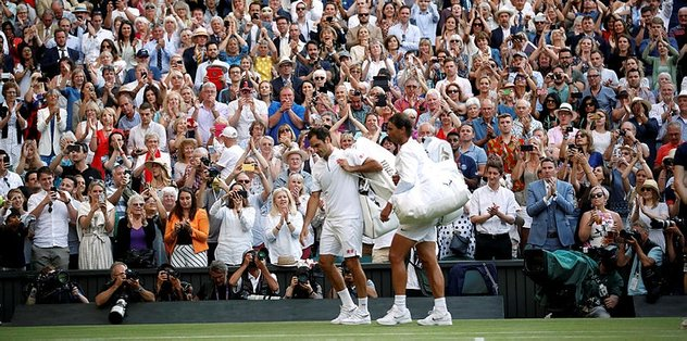"Wimbledon'da finalin adı ""Federer-Djokovic"""
