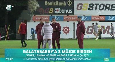 Galatasaray'a 3 müjde birden