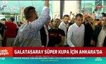 Galatasaray Süper Kupa için Ankara'da