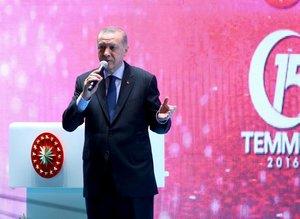 Başkan Recep Tayyip Erdoğan: 15 Temmuz'u unutmayacağız!