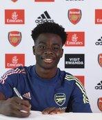 Arsenal 18 yaşındaki Saka'nın sözleşmesini uzattı!