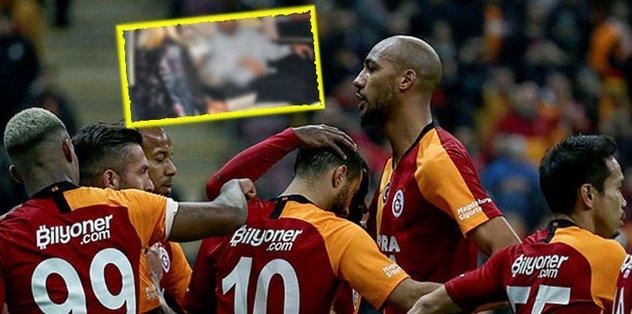 Galatasaray'ın yıldızı Steven Nzonzi fena yakalandı
