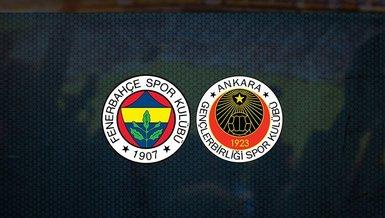 Fenerbahçe maçı: Fenerbahçe - Gençlerbirliği maçı ne zaman, saat kaçta ve hangi kanalda canlı yayınlanacak? Şifresiz mi? | Fb haberleri