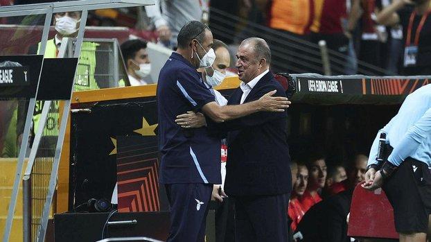 Galatasaray Lazio maçı öncesi Maurizio Sarri Fatih Terim'in önünde eğildi | İZLE
