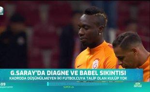 Galatasaray'da Diagne ve Babel sıkıntısı