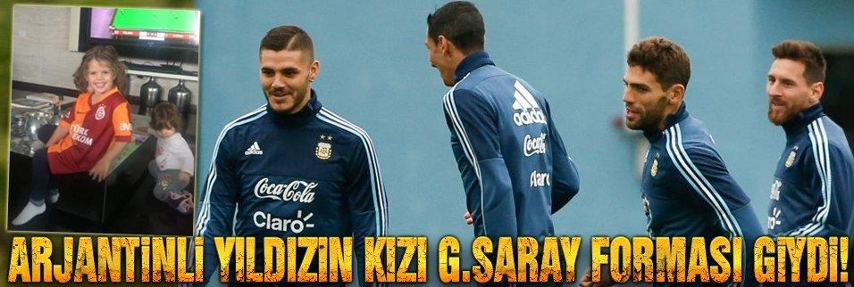 Arjantinli yıldızın kızı G.Saray forması giydi!