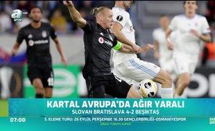 Beşiktaş Avrupa'da ağır yaralı