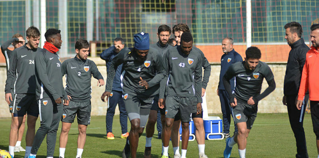 Kayserispor Sivasspor maçı hazırlıklarını sürdürdü