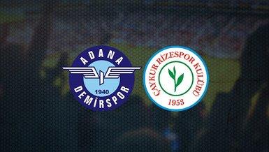 Adana Demirspor Rizespor maçı ne zaman? Saat kaçta ve hangi kanalda CANLI yayınlanacak?
