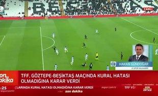 TFF Göztepe-Beşiktaş maçı kararını verdi
