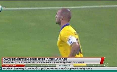 Gaizşehir'den Sneijder açıklaması