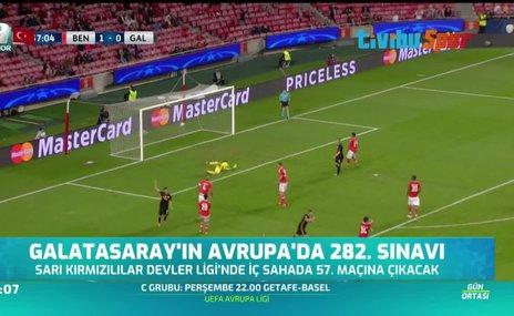 Galatasaray'ın Avrupa'da 282. sınavı