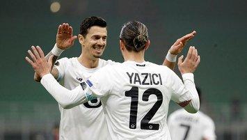Yazici hat-trick ends Milan's 24-match unbeaten run