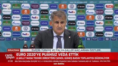 Şenol Güneş'ten İsviçre - Türkiye maçı sonrası açıklamalar
