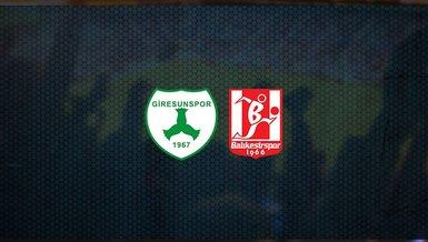 Giresunspor - Balıkesirspor maçı ne zaman, saat kaçta ve hangi kanalda canlı yayınlanacak?   TFF 1. Lig