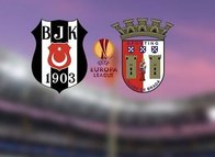 İşte Beşiktaş-Braga mücadelesi ilk 11'leri