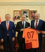 Galatasaray Başkanı Mustafa Cengiz'den İBB Başkanı Uysal'a ziyaret