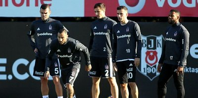 Beşiktaş'ın Osmanlıspor mesaisi sürdü