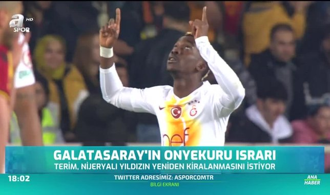 Galatasaray'ın Onyekuru ısrarı