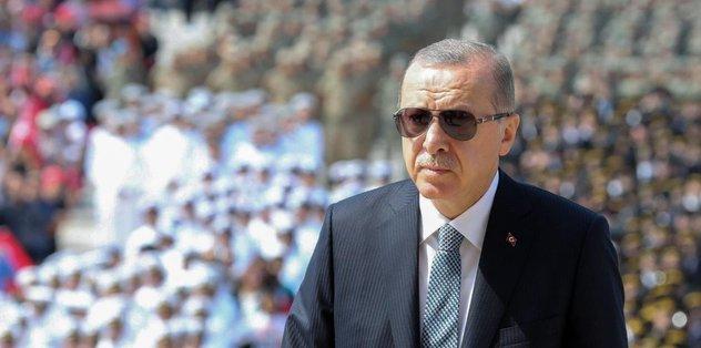 Başkan Erdoğan'dan tebrik