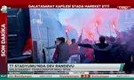 Galatasaray kafilesi stada haraket etti