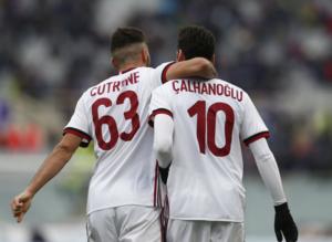 Milan puanı Hakanla kurtardı (Fiorentina-Milan maçından kareler)