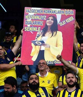 Fenerbahçeli taraftarlardan Dilay Kemer'e büyük destek