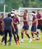 Trabzonspor'da futbolculara gözü kapalı antrenman