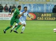 Erzurumspor - Akhisarspor maçından kareler...