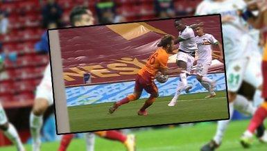İşte Galatasaray - Alanyaspor maçında penaltı tartışması yaratan o pozisyon!