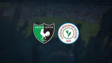 Denizlispor - Çaykur Rizespor maçı ne zaman, saat kaçta ve hangi kanalda canlı yayınlanacak?   Süper Lig