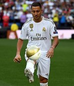 Real Madrid en pahalı transferi Hazard'ı tanıttı