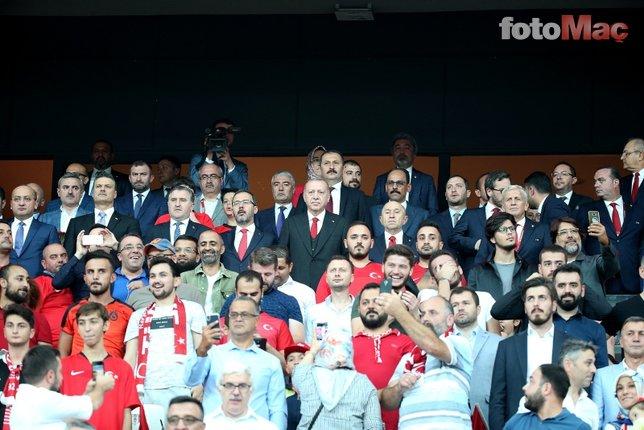 Başkan Erdoğan Milli Takımı yalnız bırakmadı