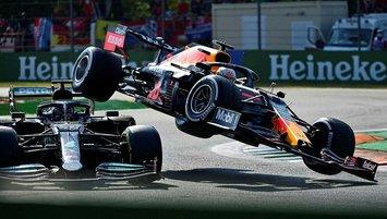 Formula 1'de tarihi kaza! Hamilton ve Verstappen...