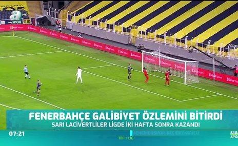 Fenerbahçe galibiyet özlemini bitirdi