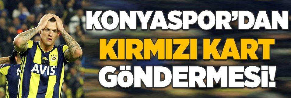 Atiker Konyaspor'dan kırmızı kart göndermesi!
